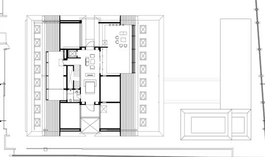 Second floor attic plan